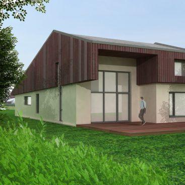 Casaă pasivă - Corbeanca, vedere proiect