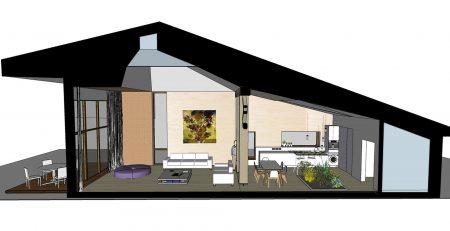 Casaă pasivă - Corbeanca, vedere de amsamblu